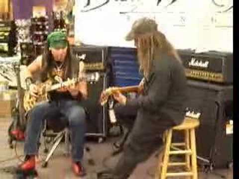Jamming with nick catanese at Guitar center