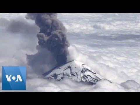 Breathtaking Aerial View of Mexico's Popocatepetl Volcano