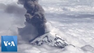 Breathtaking Aerial View of Mexico's Popocatepetl Volcano