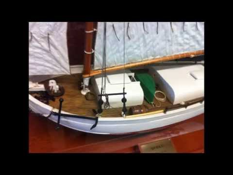 Classic hand made model yachts and boats