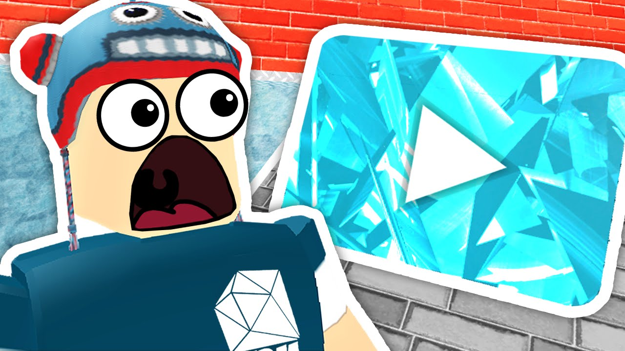Roblox Dantdm Gaming Tycoon Diamond Play Button Youtube