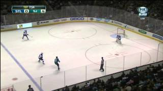 Tommy Wingels snapshot goal 4-0 St. Louis Blues vs San Jose Sharks 11/29/13 NHL Hockey.