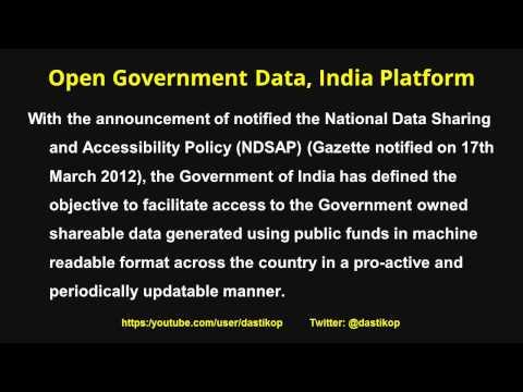 2018  Open Government Data (OGD) Platform, India