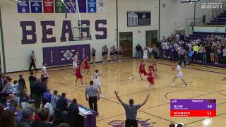 BSDN Live BUZZER BEATER  - Blair vs Bishop Neumann - Boys Basketball - 2017/18
