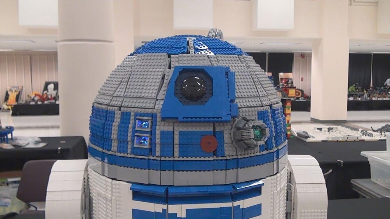 Lego Mindstorms R2d2 Ev3 At Brickcon Youtube