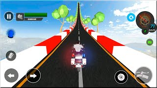 Mega Ramp: Impossible Stunts 3D Gameplay Android - Bike Stunt Games