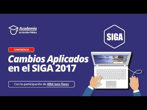 SIGA 2017 - Últimos Cambios Aplicados 2017