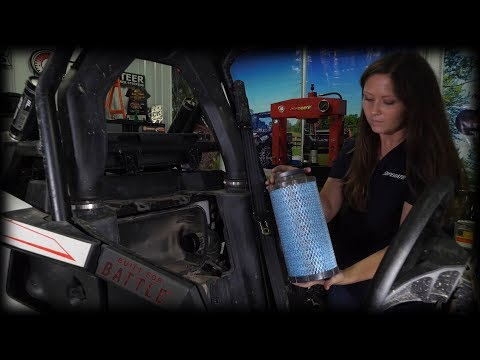 How to check/clean air filter on Polaris RS1 | Maintenance Matters | SuperATV