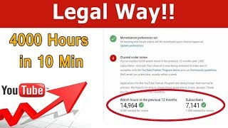How to get 4000 hours Watch time & 1000 subscribers Quickly