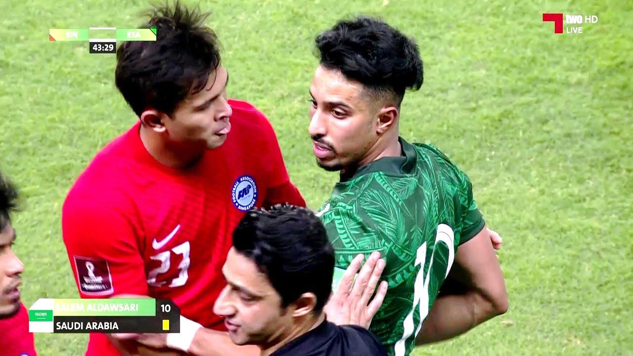 ملخص مباراة السعودية وسنغافورة   مباراة حبست الأنفاس حتى الدقائق الأخيرة   تصفيات كأس العالم 2022