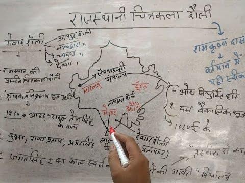 RAJASTHANI CHITRAKALA(भाग-1)मेवाड़ शैली-राजस्थानी चित्रकला शैली) for All Rpsc exam by Ajay Choudhary