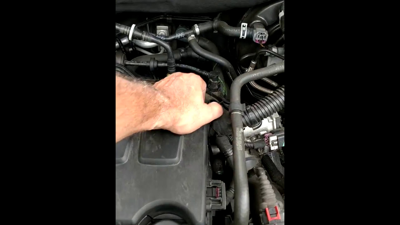 2014 Chevy Cruze 1 4 Liter Engine Vacume Leak And High Pitched Squeal And  Fix Part1  Mike Cox 01:14 HD