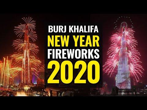Burj Khalifa new year fireworks 2020 |  New Year's 2020 in Dubai | New year Celebration 2020 Dubai
