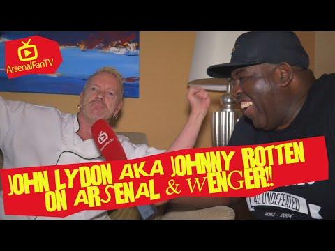 John Lydon AKA Johnny Rotten on Arsenal & Wenger!!