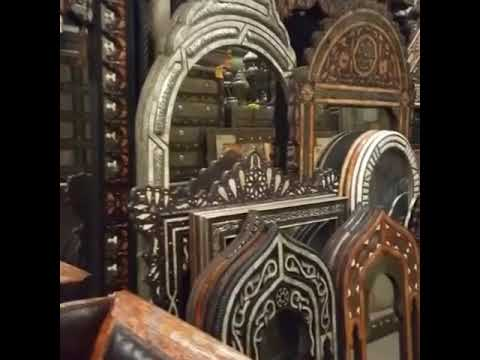 Huge selection of Moroccan inlay camel bone mirrors | syrian mother of pearl mirrors one of a kind