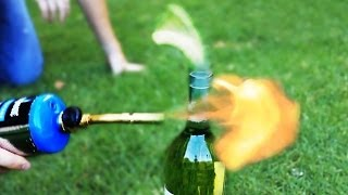 Open Bottle of Wine with a Torch Science Experiment