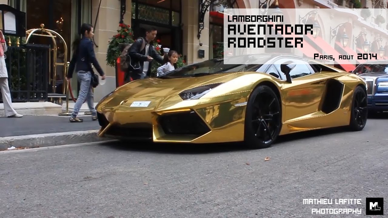 A golden Lamborghini Aventador Roadster ! - YouTube on gold ford mustang convertible, gold bmw convertible, gold lamborghini veneno roadster, gold corvette convertible, gold audi convertible, gold ferrari convertible,