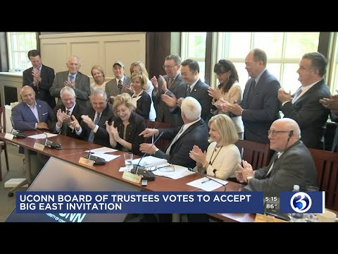 VIDEO: UConn's Board Of Trustees Votes To Accept Big East Invitation