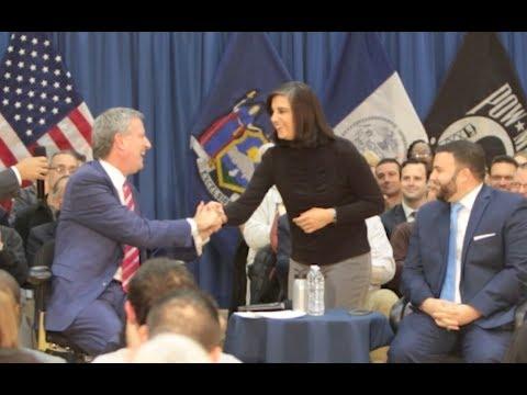 Watch: Malliotakis, mayor at first encounter since election