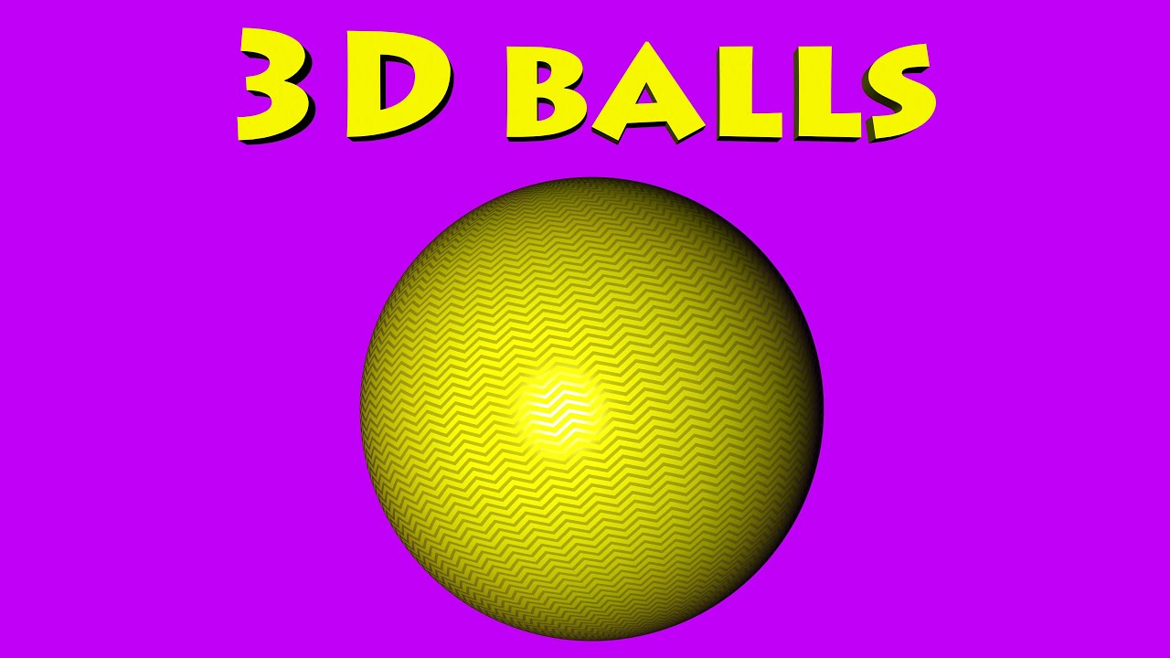 Learn Colors with 3D Color Surprise Balls - Learn Colours for Kids