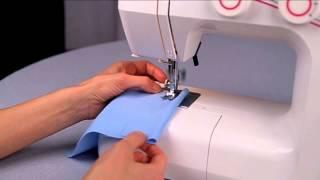 Уроки шитья Janome - строчка зигзаг (синтетика)