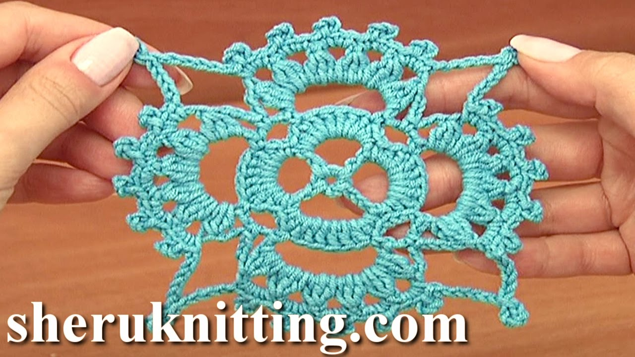 How To Crochet Square Motifs Tutorial 15 Part 1 Of 2 Youtube
