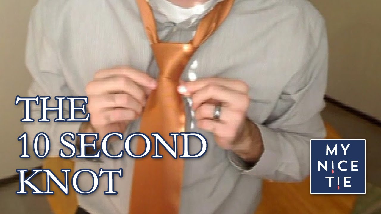 How to tie a tie ten second knot cool trick to tie a tie youtube ccuart Image collections