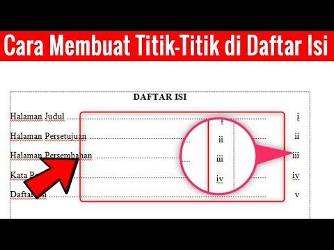 Tutorial cara membuat DAFTAR ISI pada Microsoft WORD 2007 secara manual please like n subscribe kalau video ini....