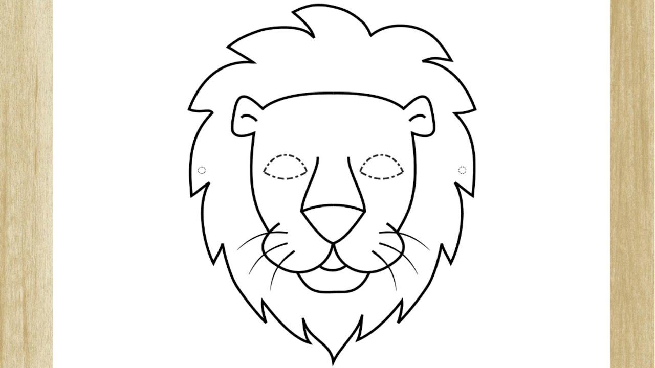 Como Desenhar O Rosto De Um Leao Facil How To Draw Lion Face
