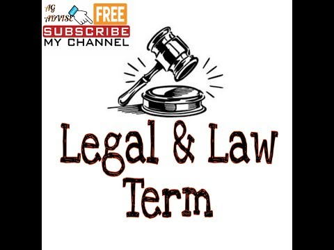 Legal terms of common law which generally used