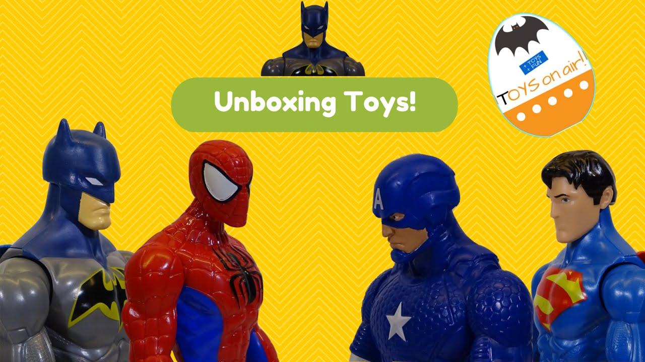 Kids Toys Action Figure: 2015 BATMAN Unboxing Superheroes Action Figure Toys Review