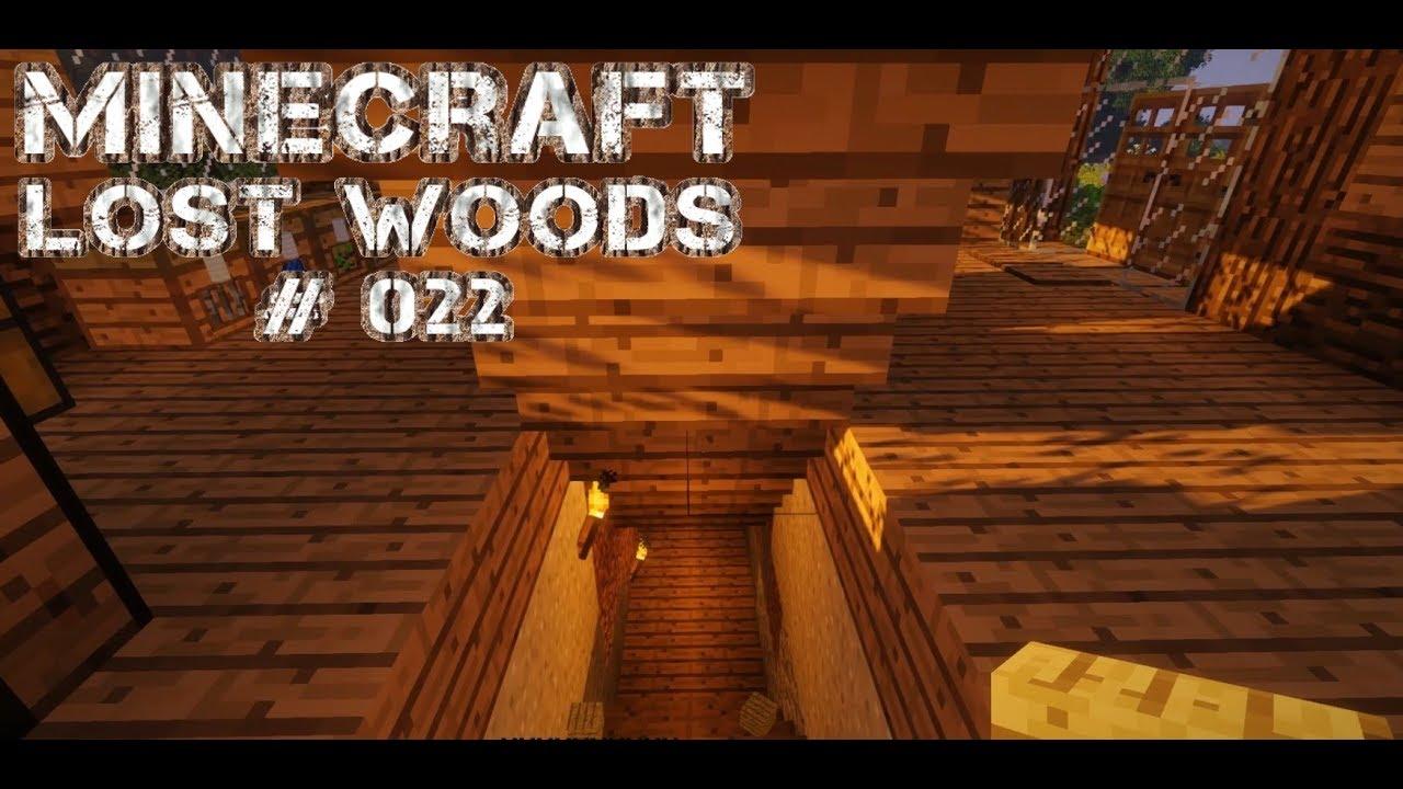 Minecraft Lost Woods 022 Ein Unterirdischer Lagerraum Youtube