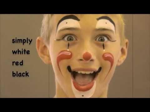 simple clown  face painting  maquillage pour enfants