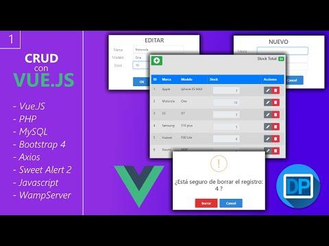 1 - CRUD con Vue.JS - Presentación del proyecto thumbnail