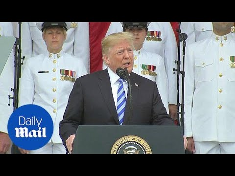 Trump speaks at Arlington National Cemetery for Memorial Day - Daily Mail