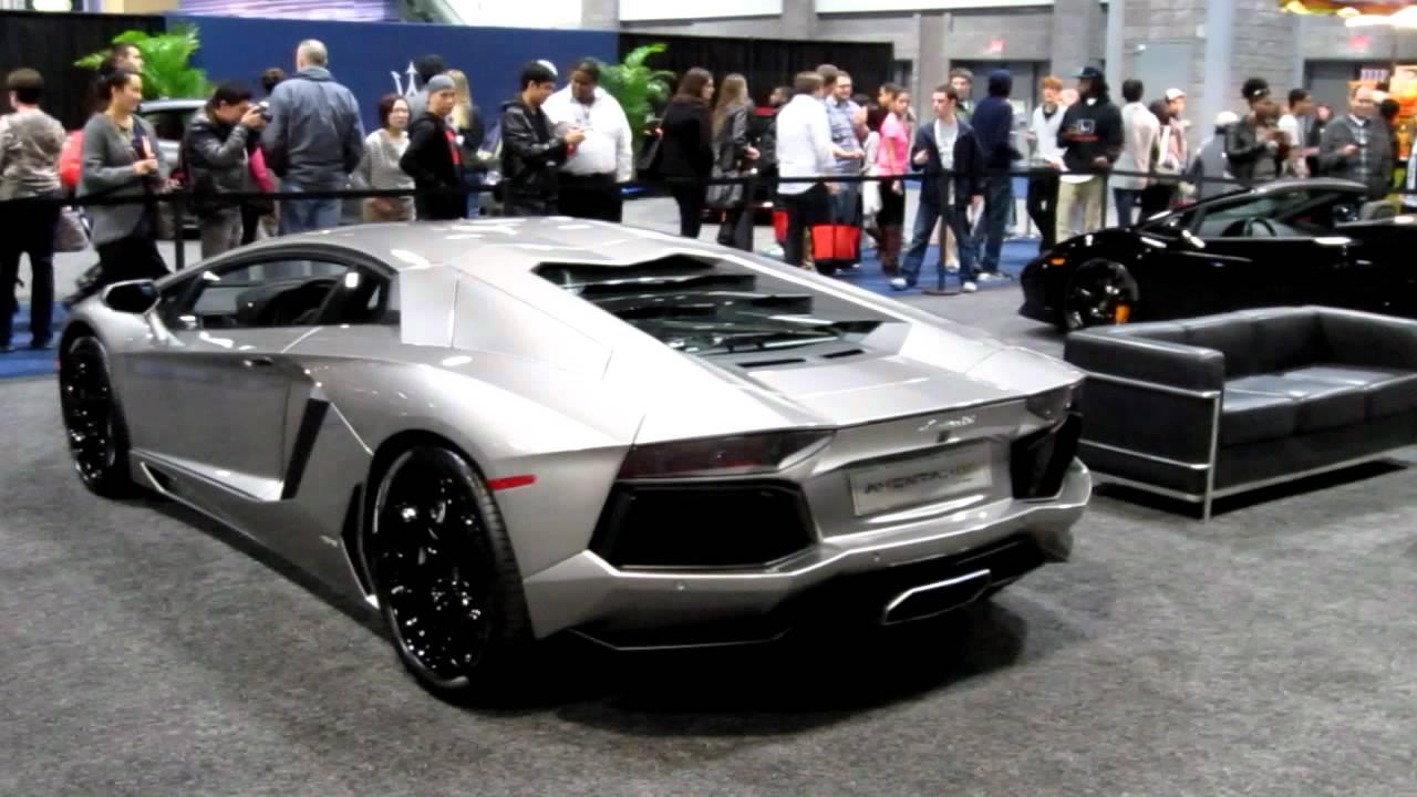 Lamborghini Aventador Back View 2012 Washington D C Auto Show