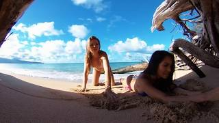 Maddy & Morgan Livestream on the Beach in 360 VR