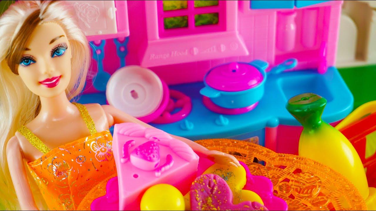 Barbie Masak مطبخ باربي Mainan Masak Masakan Mainan Anak Perempuan Barbie Cooking Toys Eps 6 Youtube