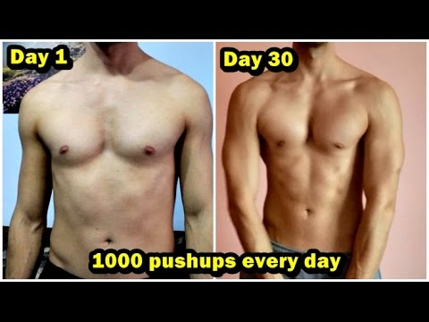 1000 PUSHUPS EVERY DAY for 30 DAYS CHALLENGE! MY BODY ...