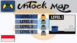 [Tutorial Blender Game Engine] membuat Unlock MAP (No Script/Indonesia)