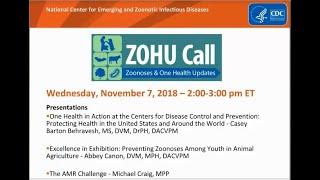 CDC ZOHU Call November 7 2018