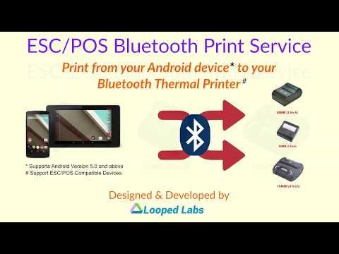 ESC/POS Bluetooth Print Service