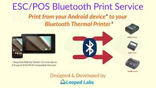 Esc/pos bluetooth print service is a easy way to your enabled compatible thermal receipt printers from any android device. the app...