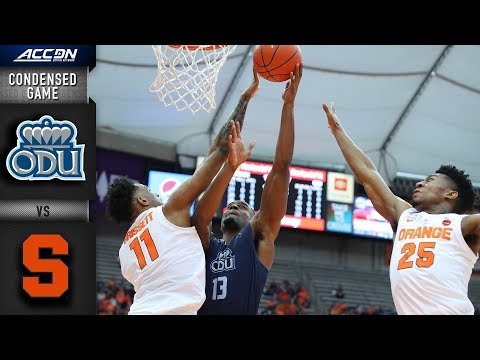 Old Dominion vs. Syracuse Condensed Game | 2018-19 ACC Basketball