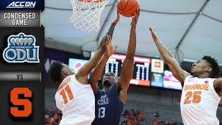 Old Dominion vs. Syracuse Condensed Game | 2018-19 ACC Basketball Video