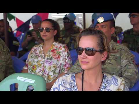 """""""   Nepalese Force  Military Police  receives UN Medal in MINUSCA, Central African Republic, 2018."""""""