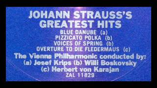 J Strauss / H Von Karajan, 1960: Overture to Die Fledermaus - Vienna Philharmonic Orchestra