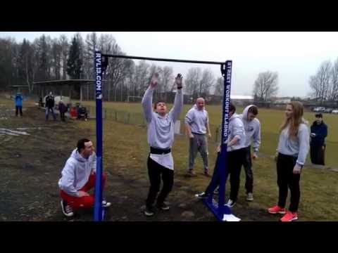 Street Workout Kladno - Exhibice na Spartan Kids Winter Race
