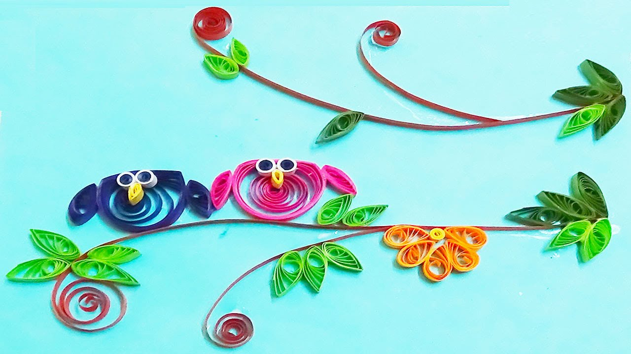 Papercraft quilling artwork | How to Make Cute Owl