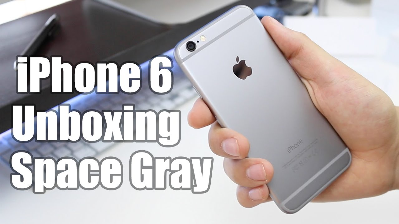 iphone 6 unboxing space gray youtube. Black Bedroom Furniture Sets. Home Design Ideas